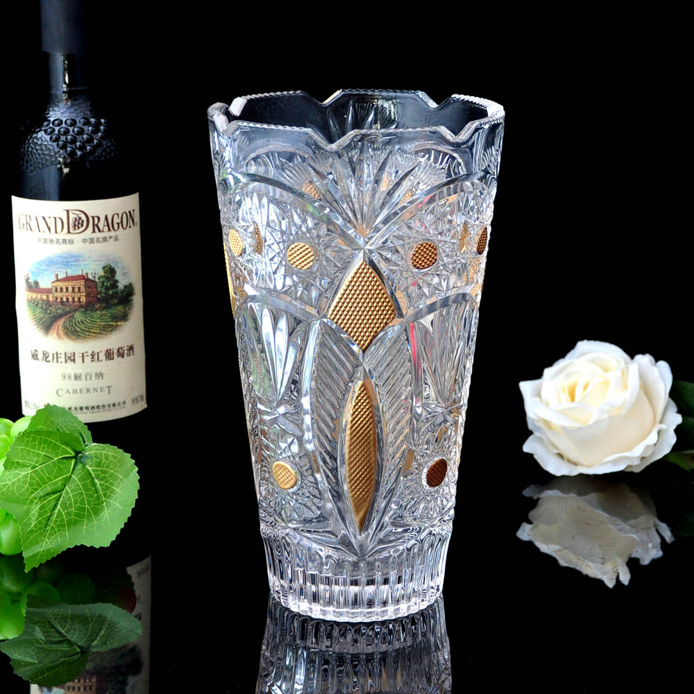 European modern and stylish home furnishings floral transparent glass vase restaurant ornaments wedding gift ideas