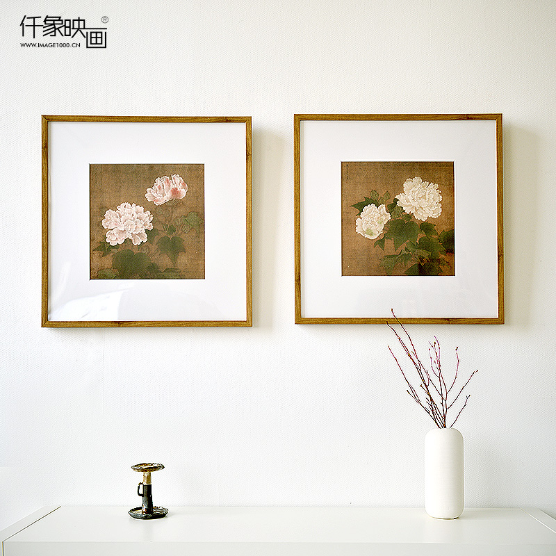 Pictures thousand like hibiscus biconnectivity jane about chinese painting the living room bedroom modern decorative painting frame painting wall painting paintings