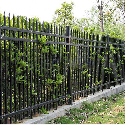 Customized security type galvanized zinc steel fence fence fence fence fence spray antirust residential fence fence construction fence