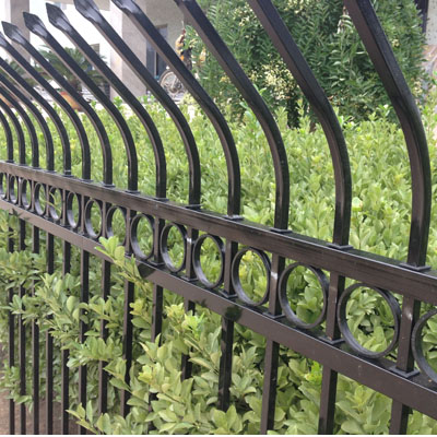 Community fence railing zinc galvanized steel fence fence fence large virescence railing fence around the fence wall