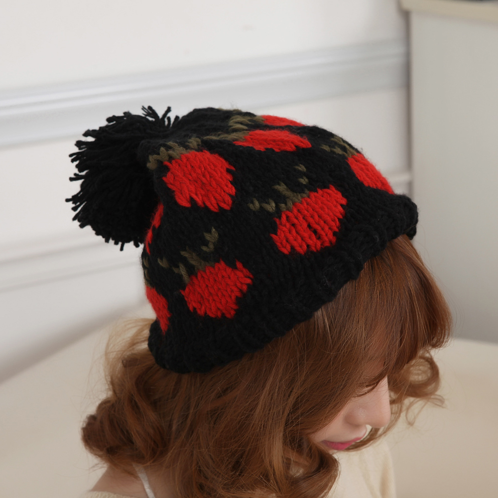 Winter hat female korean tidal thick paul warm hat knit hat wool hat korean autumn and winter hat female hat tm345