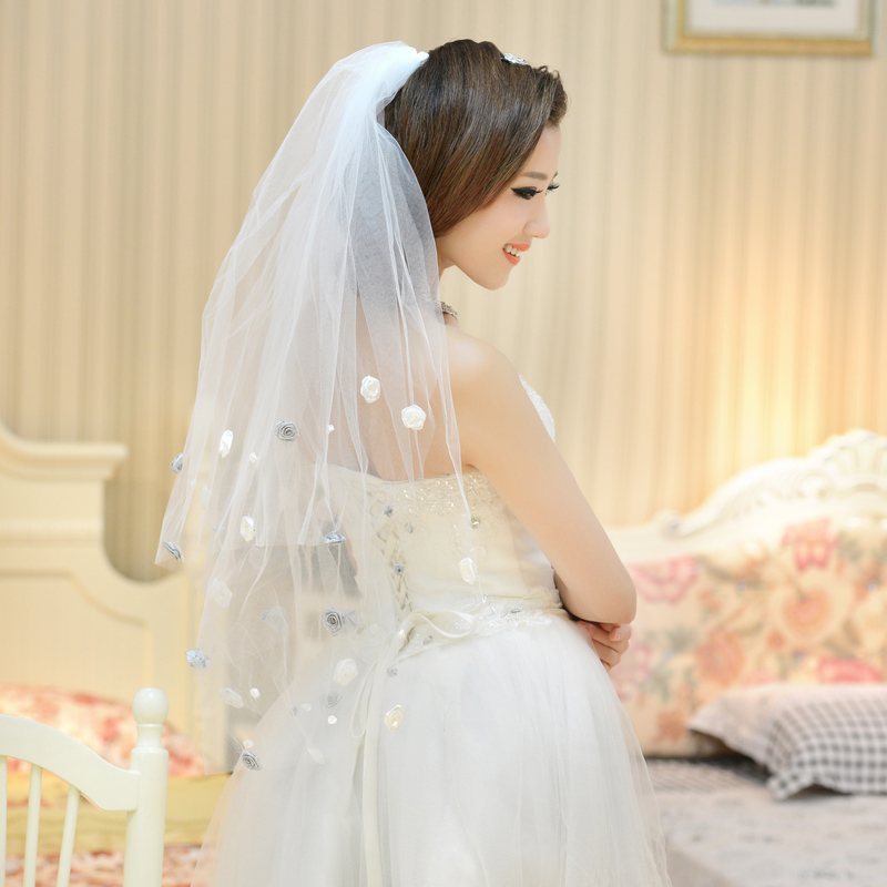 Two layers of gauze veil bridal veil korean bridal veil wedding veil wedding dress accessories veil wedding veil 2