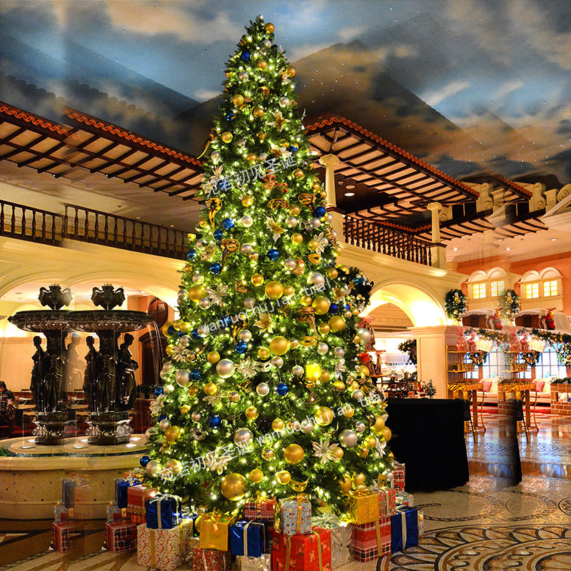 Luxury decorative large luxury christmas tree christmas tree christmas tree christmas tree decoration accessories wine store mall essential specials