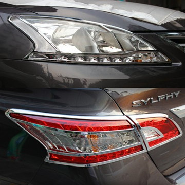12 new models sylphy new sylphy lampshade light box cover new sylphy front + rear fog lamps decorative plating
