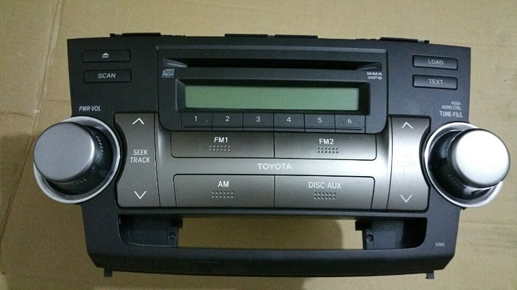 12 toyota highlander original car cd player car cd player car stereo