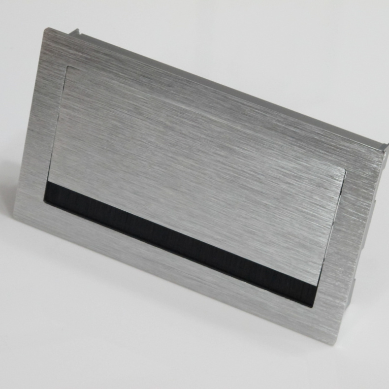120 * 200mm thick brushed silver aluminum box with a brush wire threading box manhole cover cushion cover