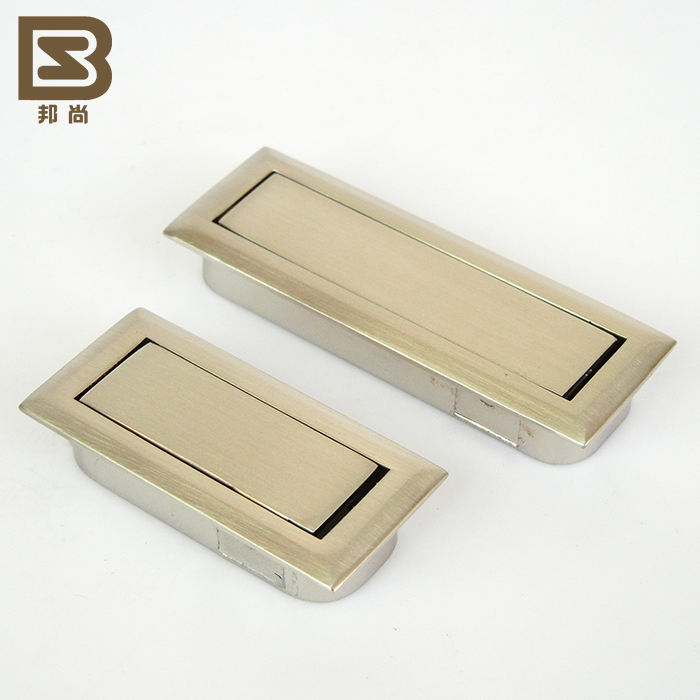 [Italian] state still handle modern small square concealed hidden drawer wardrobe door handle 7264