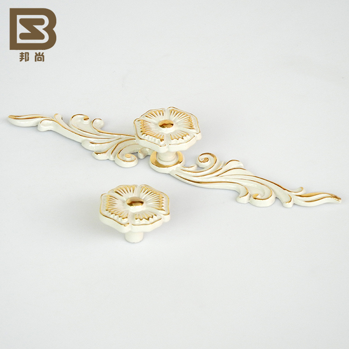 [Italian] state still luxury european ivory handle pastoral cabinet drawer wardrobe door handle 7832