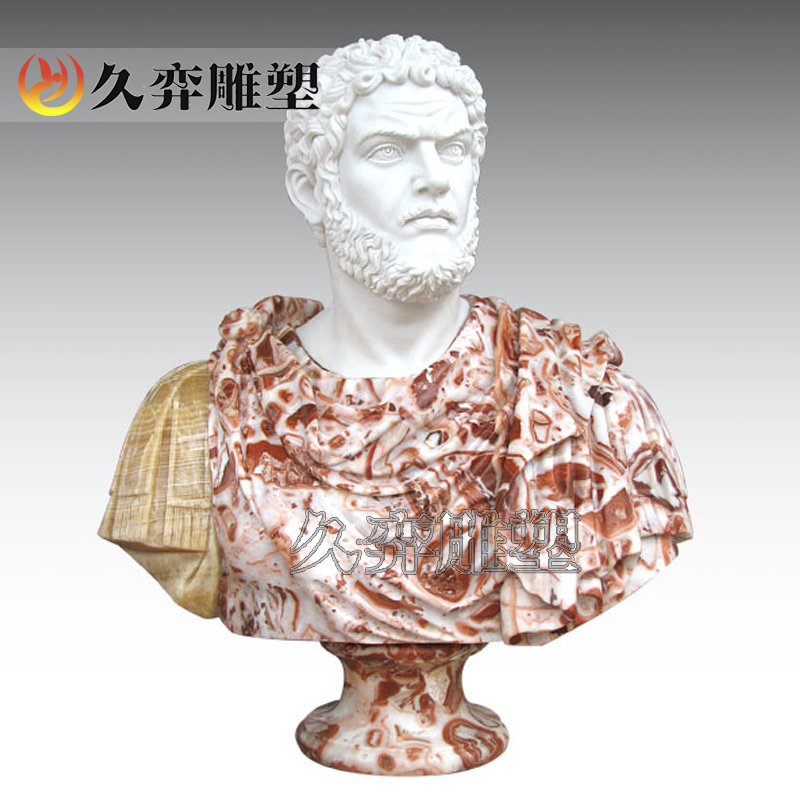 Euclidian westerners statue marble stone carving figures bust avatar [long yi sculpture]