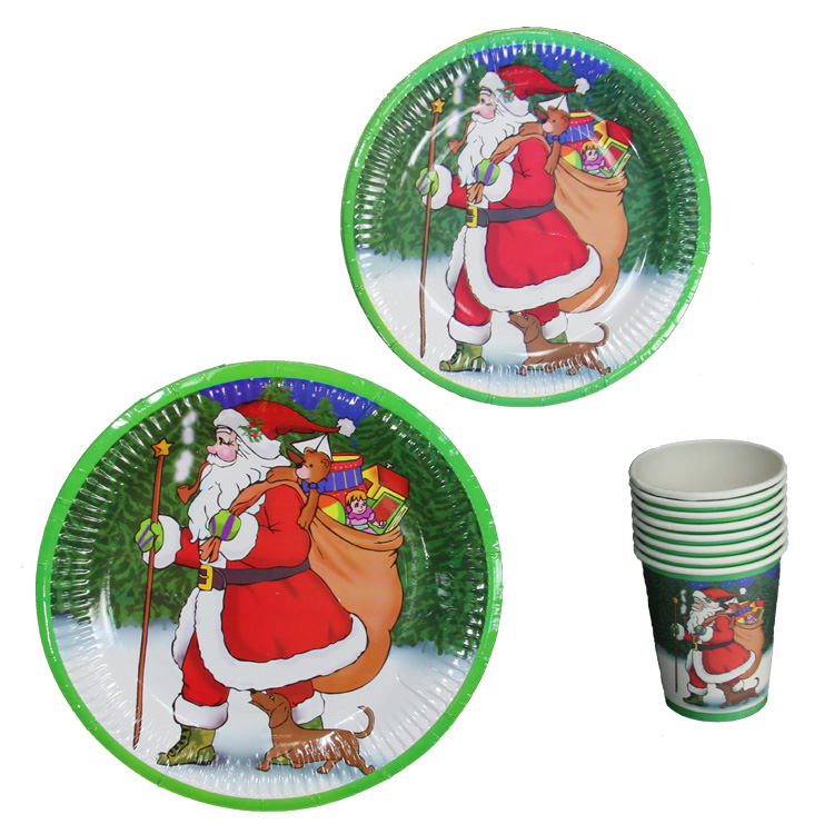 Halloween cosplay party party party party party party supplies tableware paper cups paper plates santa paragraph