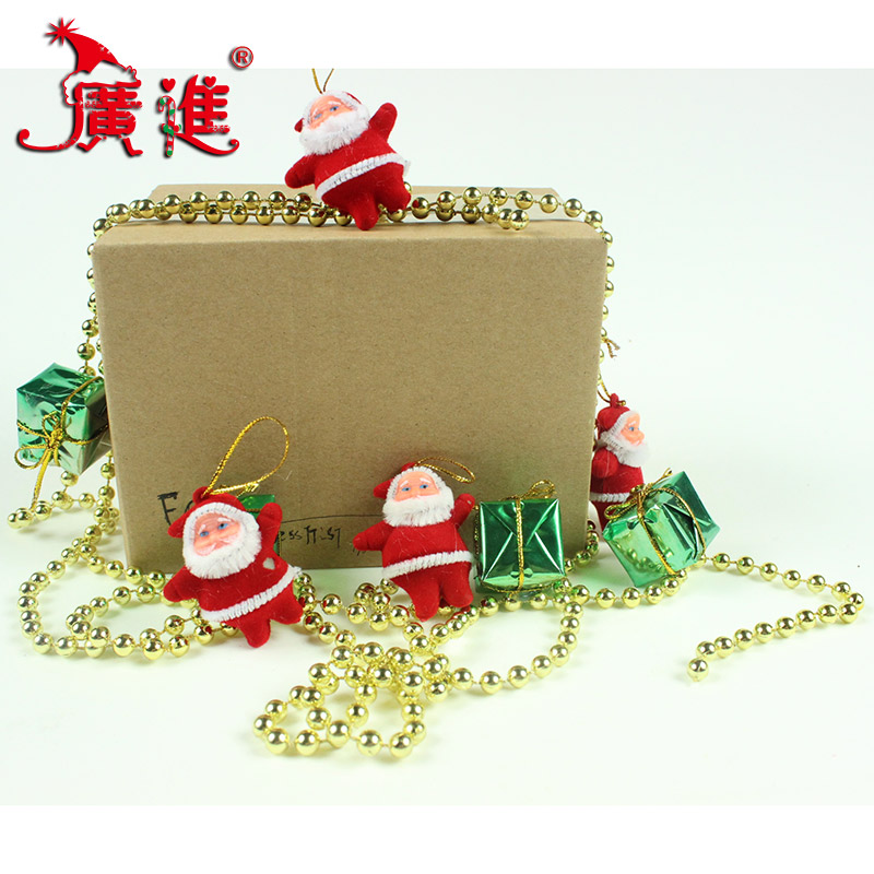 Progressive tree decorations christmas necessities christmas gift packs a lot of beads square elderly package