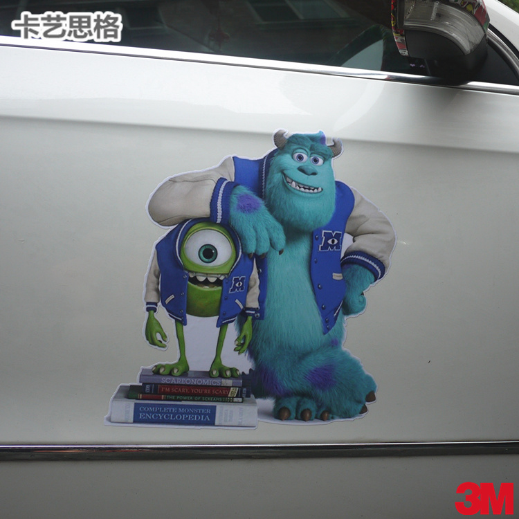 Car stickers company monsters university popeyes strange hair applicable smart mini car body side door ys