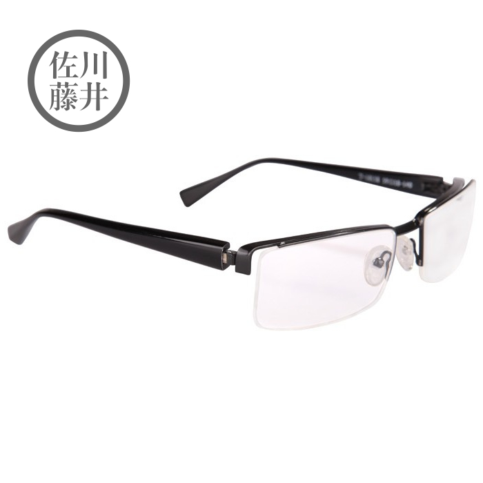 Wood ninety counter genuine sagawa fujii t-10158 pop style checkered half of the half frame metal frame texture