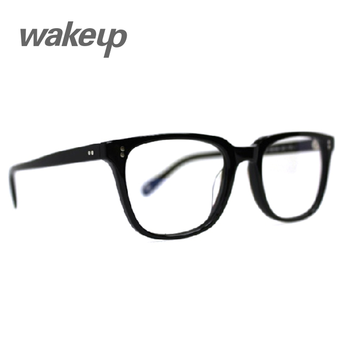 Wood ninety counter genuine wakeup w52008 bright black literary retro range of children frames temperament glassframe
