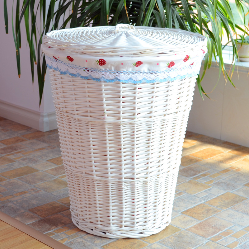 Zi xiu home rattan wicker laundry basket storage barrels laundry basket laundry basket with a lid large contadino big basket