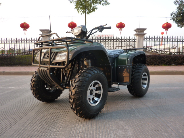 Double disc brakes front and rear differential shaft drive zongshen 150cc big hummer atv/quad atv motorcycle longding