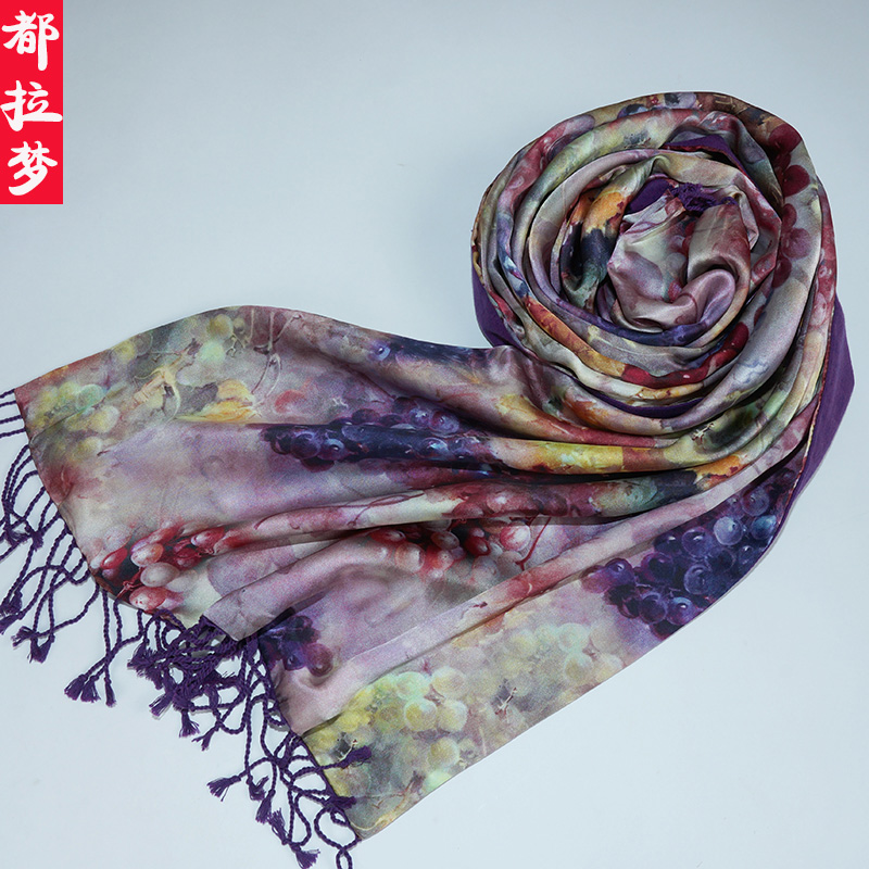 Abdullah dream upscale double brushed silk scarves silk long scarf shawl ms. warm autumn and winter