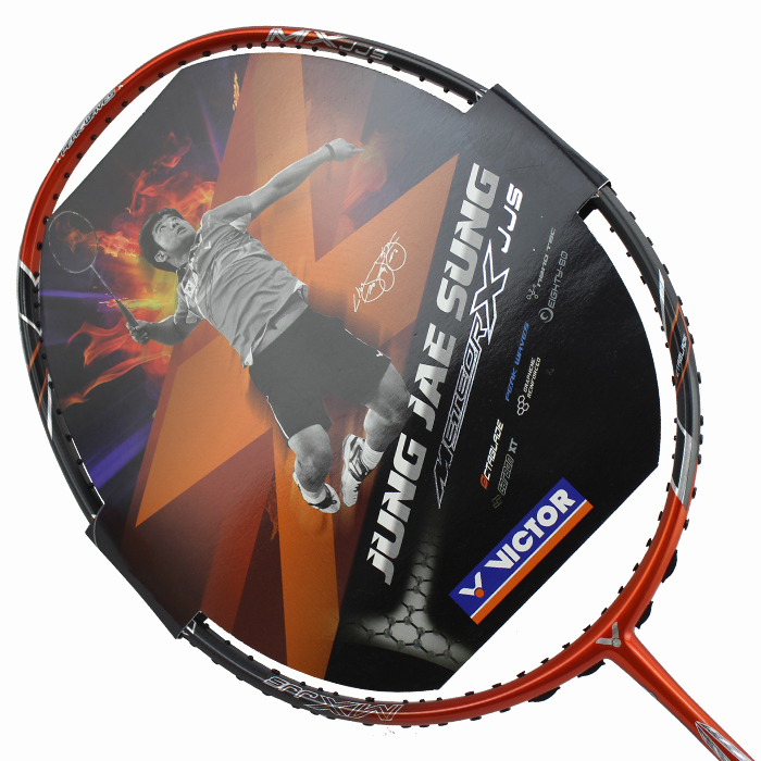 Genuine victory victor victor spikes mx-jjs single sticks badminton racket offensive lee is cheng cheng ambassador permanent representative
