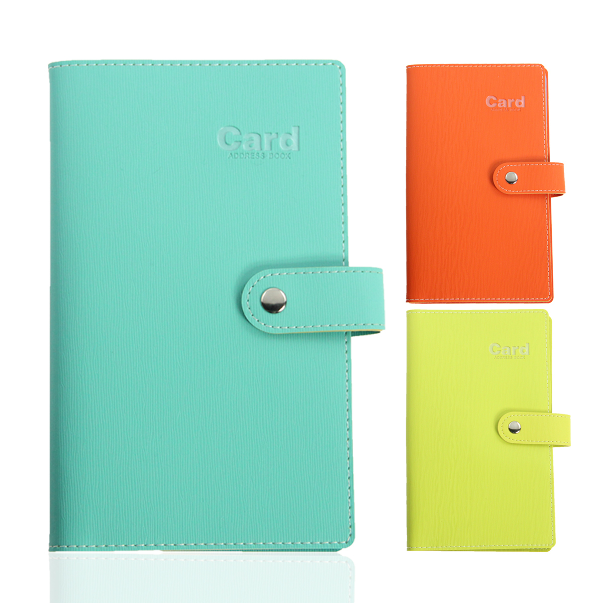 The new 2014 small fresh fashion color pu soft leather card book card book business card holder 240 card holder awesome