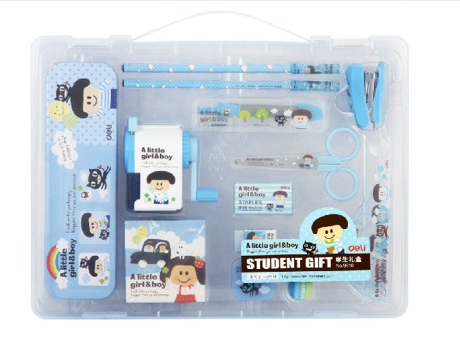 Deli 9610 student stationery student gift full set of school supplies for children