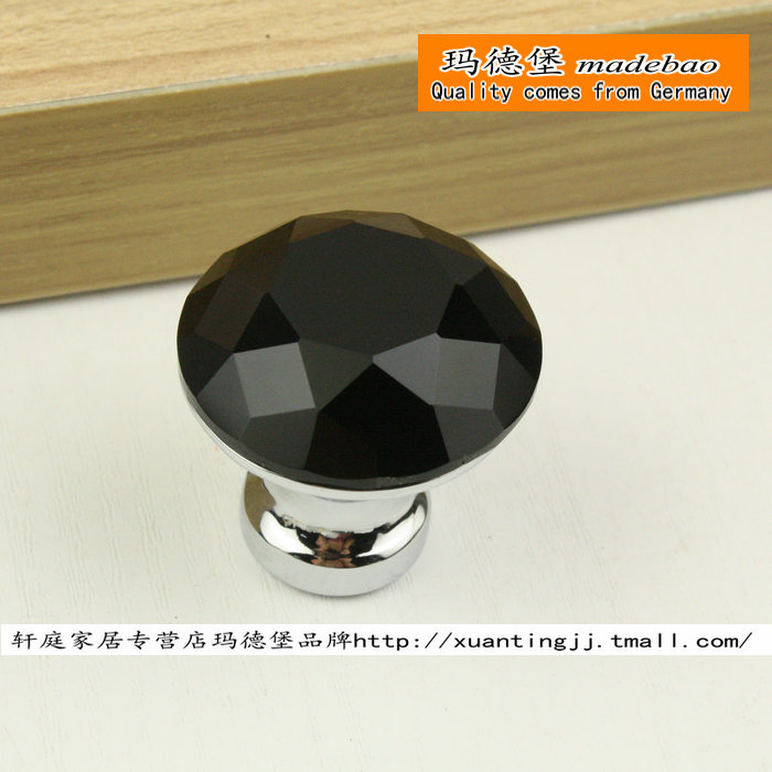 Madeleine fort madebao modern minimalist black k9 crystal diamond crystal handle wardrobe cupboard drawer handles