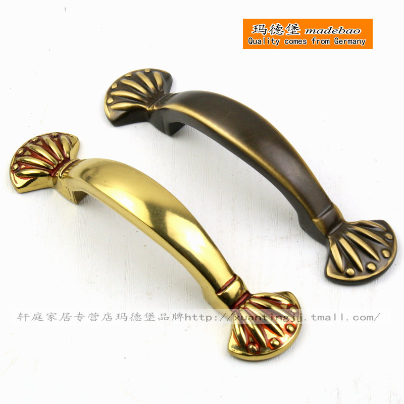Ma pauw curved handle full copper handle copper handle handle european american minimalist wardrobe cupboard handle grip
