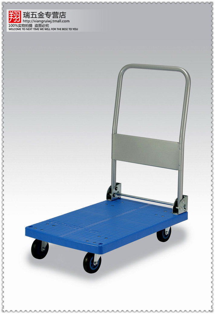 150KG iron stand mute folding trolley truck engineering pushcart logistics trolley carts small carts