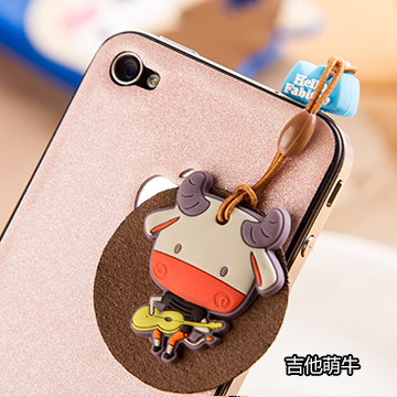 Universal mobile phone that adorable cartoon cartoon pendant dust plug pendant dust plug lovely dust plug pendant