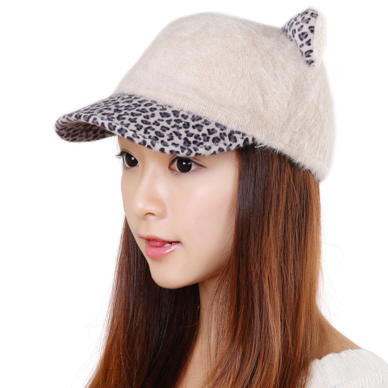 Korpi korean version of the 2015 autumn and winter days warm lovely lady cartoon rabbit ears hat black beige 0373