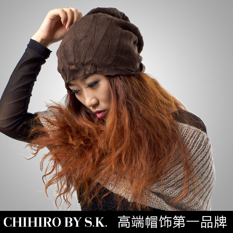 Chihiro new hat shop street rock style hipsters double side encryption encryption cool autumn and winter hat knitted hat