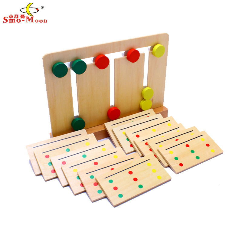 Mathematics teaching aids mongolia and taiwan soe lee kindergarten early childhood special sensory toys tricolor game