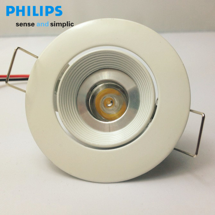 Philips led ceiling spotlights QB021 white (hole 60mm) 1 w led lamp cup combo