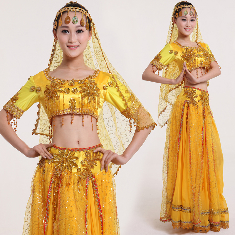 Get Quotations · Nora wedding dress in national costumes xinjiang dance indian dance costume costumes costumes dance clothes yellow  sc 1 st  Shopping Guide - Alibaba & China Indian Baby Costumes China Indian Baby Costumes Shopping ...