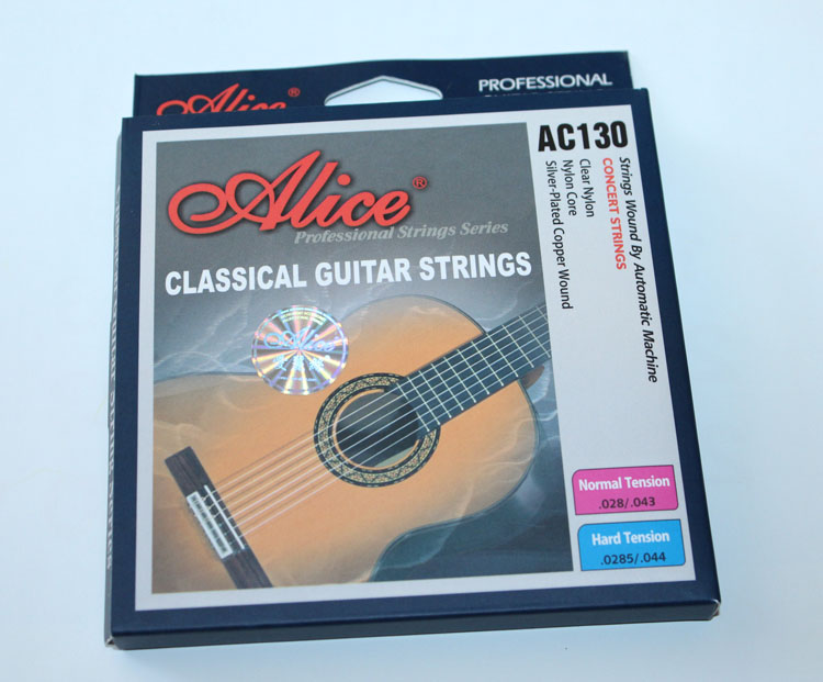 Free shipping alice alice ac130 nylon string classical guitar strings imported silver plated copper wire wrapped string