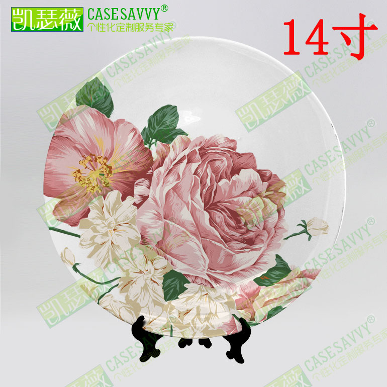 14 inch prints painted style porcelain decorative plate hanging plate sit plate ceramic dish plate wobble creative art wall plate