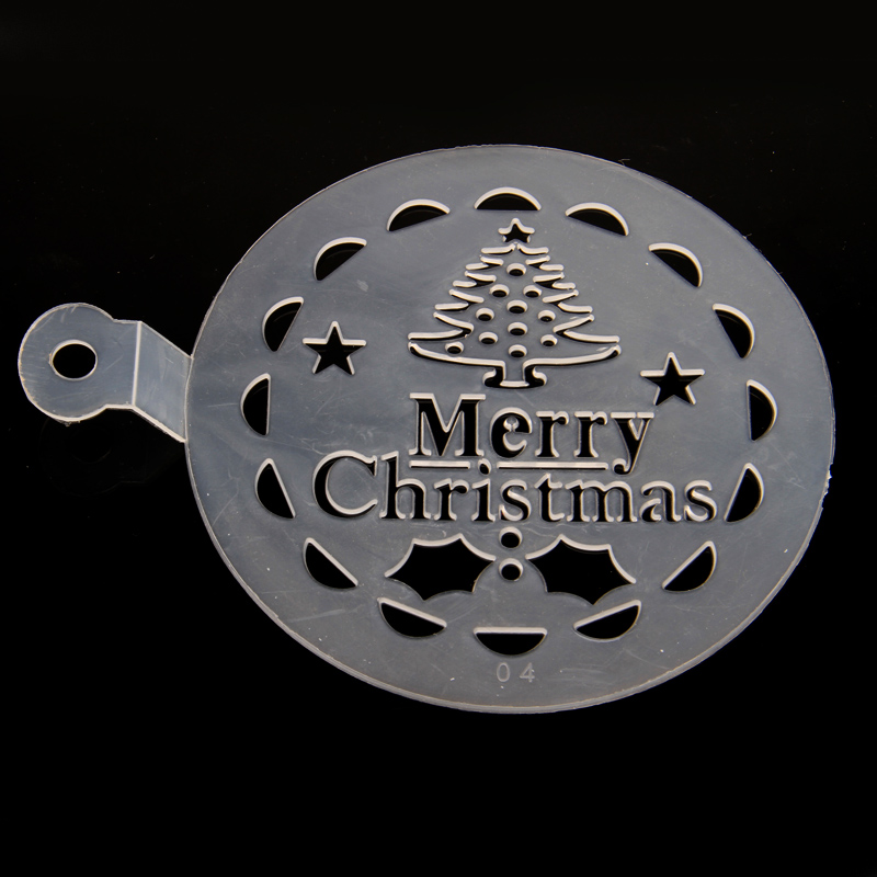 Plastic green spray cake/merry christmas font hard spray mold bakeware durable