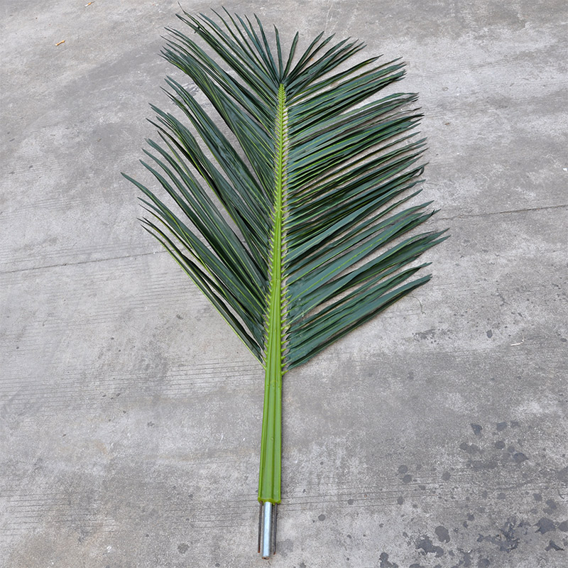 High simulation coconut tree leaves fake artificial bionic leaves a large room decor inside and outside the green leaves of plants