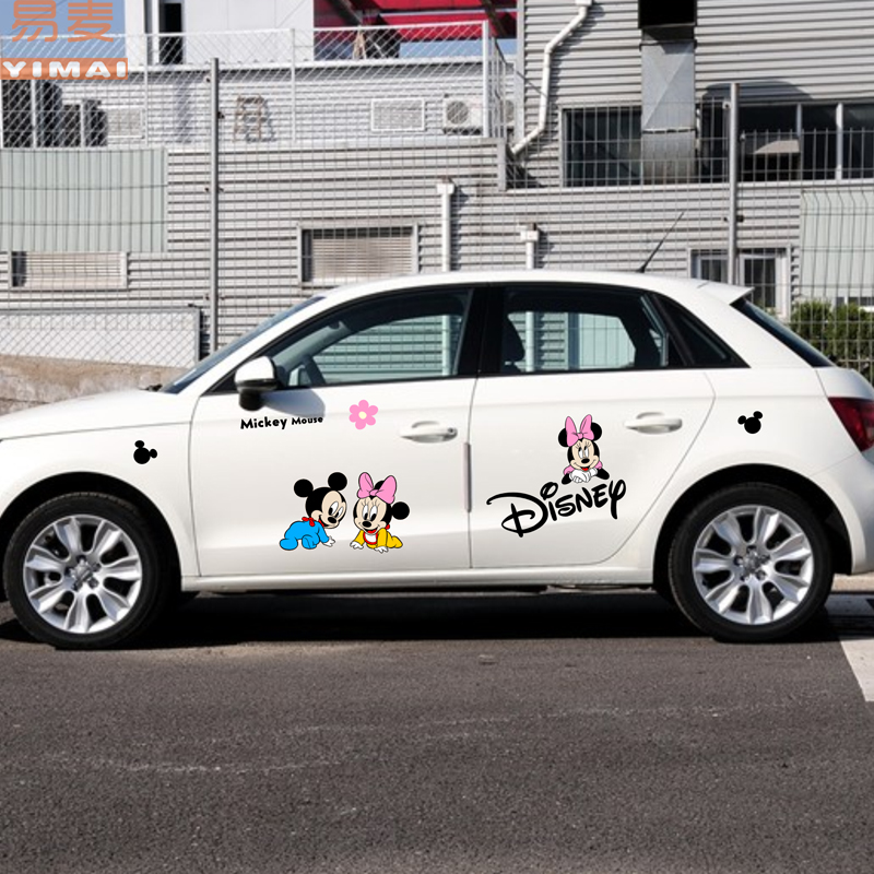 Cartoon car stickers car stickers affixed to the vehicle with double side the whole car stickers