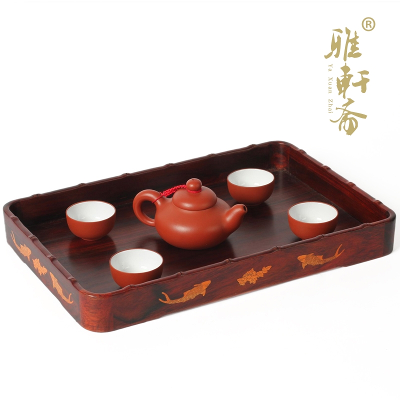 Tz fast mahogany wood crafts rosewood solid wooden cutlery wooden pallets wooden tray tray compote fruit bowl large