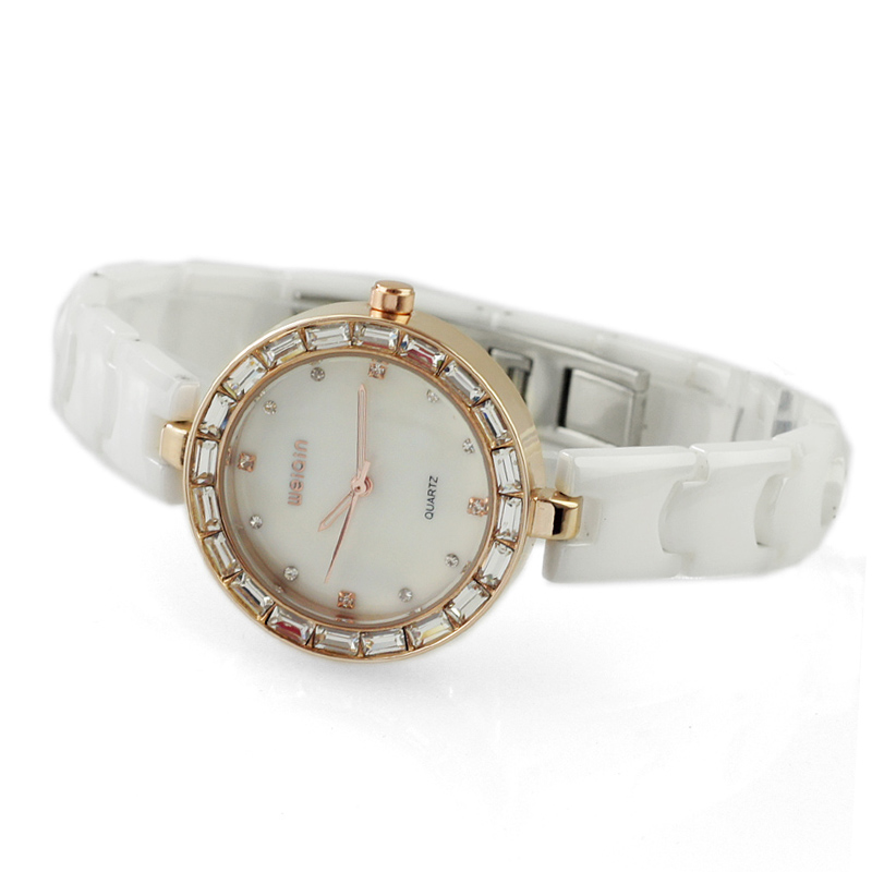 Wei qin ceramic ladies watch quartz watch authentic korean female form diamond watch korean version of the white goods to pay