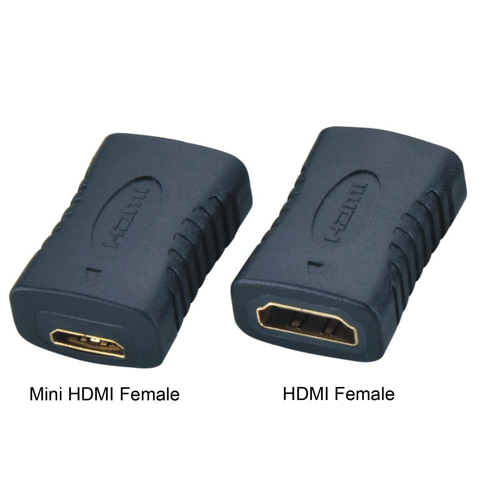 Cy mini hdmi female to a female version 1.4 c mini hdmi to hdmi female to female adapter black