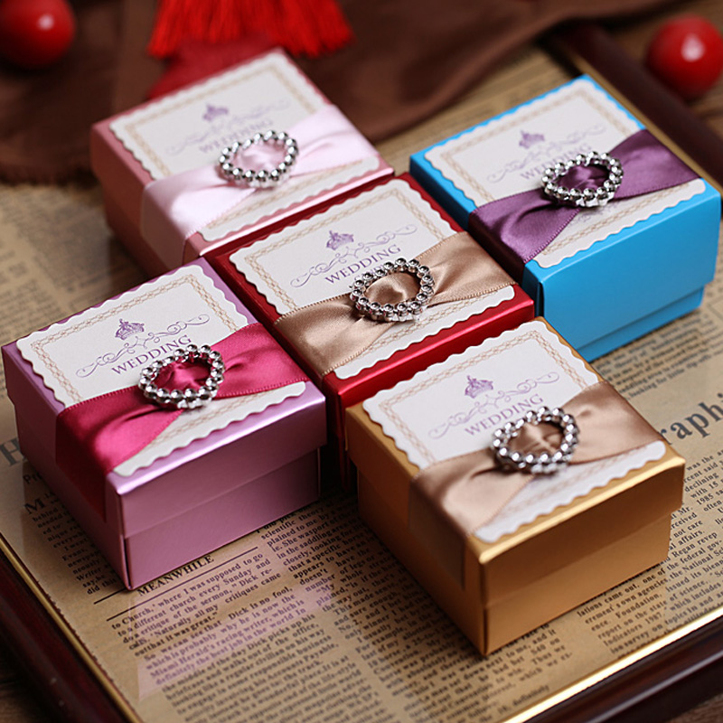 Happy tree new european creative personality candy box full moon wedding gift jewelry heart customize a variety of ribbon