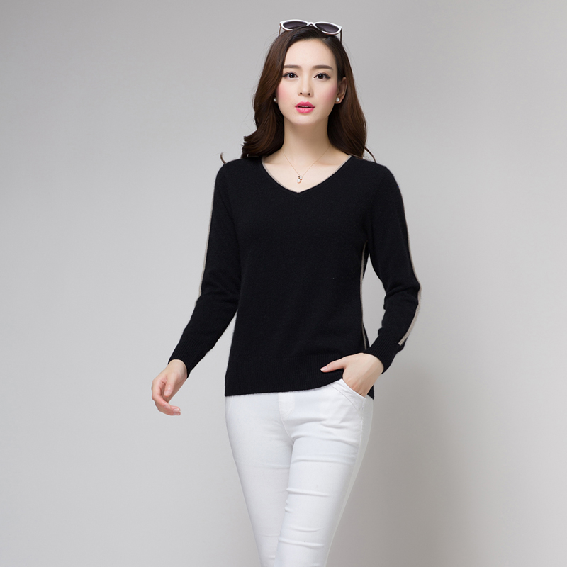 Get Quotations · 15 new autumn and winter solid color cashmere sweater  female short paragraph and a half high a814912a1