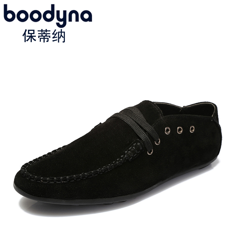 Paul boodyna priština genuine suede suede leather shoes everyday casual men's fashion breathable single shoes peas shoes