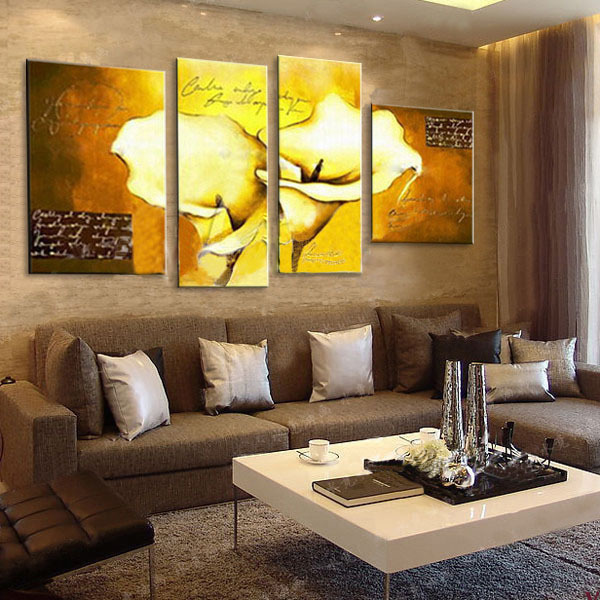 Amina painting rich flowers ã ã jinya jinxin wang hand painted oil painting frame painting the living room decorative painting quadruple painting
