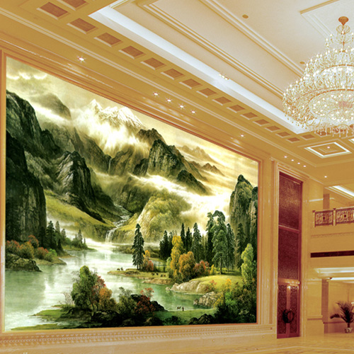 Large custom wallpaper murals wallpaper the living room sofa backdrop landscape wallpaper mural of chinese landscape painting wallpaper