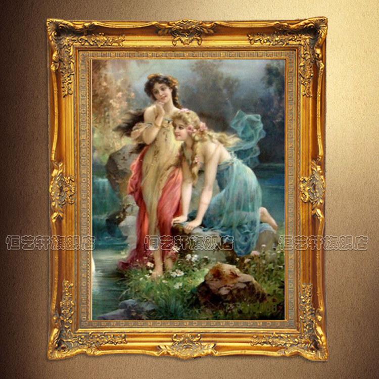 Hang yixuan pure hand painted oil painting decorative painting the living room bedroom villa entrance mural paintings of european aesthetic character
