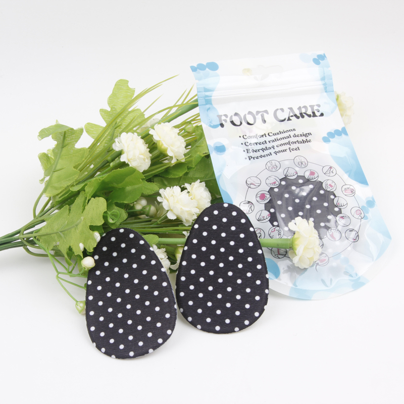 New white dot foot descent thick silicone heel pad half a yard cushion heel pad cushioning insole massage insole female