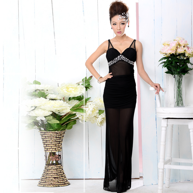 5191bf84bbe Get Quotations · New sexy nightclub ktv princess dress evening dress  banquet toast clothing party dress costumes bar ds