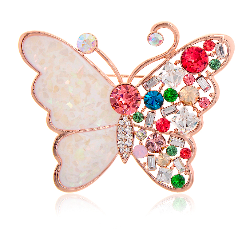 Albemarle jewelry colorful crystal butterfly brooch sparkling brooch pin brooch pretty small ornaments new product QW-61